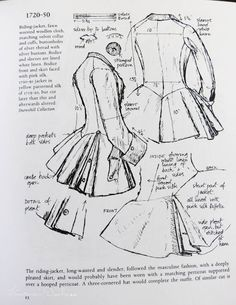 """Instructions"" for pleated jacket. Cool."