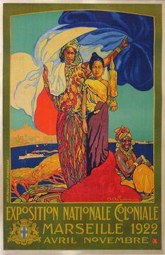 EXPOSITION COLONIALE MARSEILLE AVRIL-NOVEMBRE-Moyen Modèle  (1922)