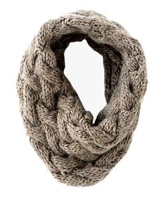 Take a look at this Taupe Rhiannon Infinity Scarf by Wear All Winter: Women's Accessories on #zulily today!