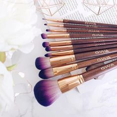 Lusting Over These Purple & Rose Gold Hues! Thank you @devotedtopink for your pic of #GWA cruelty-free makeup brushes. Available to buy on www.girlswithattitude.co.uk ✨ #GWALondon