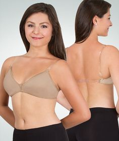 Adult TotalStretch Removable Pad Bra by Body Wrappers in Nude  291  Convertible Bra 63cc1d9e5