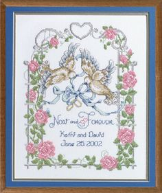 this page is a collection of some of my favorite wedding cross stitch designs as a professional picture framer i understand how important the right design