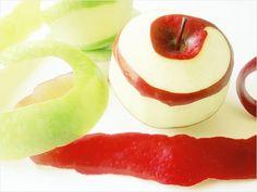 Apple peels: clean discoloured aluminium saucepans