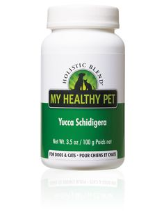 Holistic Blend Yucca Schidigera The Internal Cleanser & Healer Holistic Blend®'s Yucca Schidigera is known to be effective for hip dysplasia, arthritis, bone/joint problems and inflammation. Known to reduce pain and increase mobility by production of the body's own natural steroids. Known as a natural detoxifier for the liver.