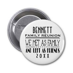 Shop 2 Inch Round Button created by jimbuf. Family Reunion Themes, The Reunion, Family Reunions, Name Badges, Custom Buttons, Text You, Keepsakes, Wells, Genealogy