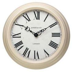 Buy Jones & Co Savoy Cream Wall Clock from our Clocks range - Tesco.com