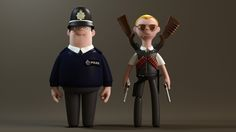 More Awesome Vinyl Toy Designs By A Large Evil Corporation: Hot Fuzz - Danny & Nick