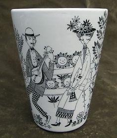 Vintage Arabia Made in Finland Emilia Pottery Vase # 21 Designed Raija Uosikkine in Pottery & Glass, Pottery & China, China & Dinnerware Stone Bowl, Mid Century Decor, China Dinnerware, Tableware, Serveware, Kitchenware, Pottery Vase, Ceramic Bowls, Finland