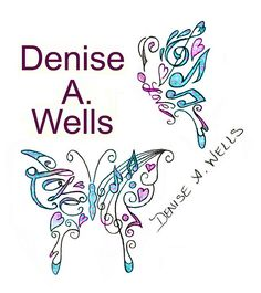 Love Butterfly Tattoos by Denise A. Wells made with musical notes and hearts....