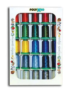 Poly X 40 Embroidery Machine Thread 25 Spool Holiday Colors Set - http://www.sewingmachinereveiws.com/poly-x-40-embroidery-machine-thread-25-spool-holiday-colors-set-2/
