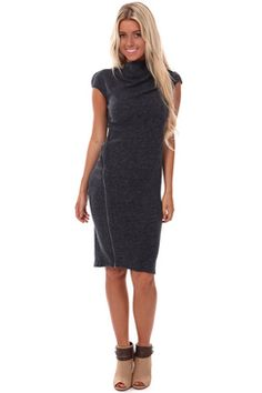 #Navy Fitted Dress with Zipper Detail-Going to an important meeting or just wanted to have an awesome style? Dress to Impress with the #NavyFittedDress