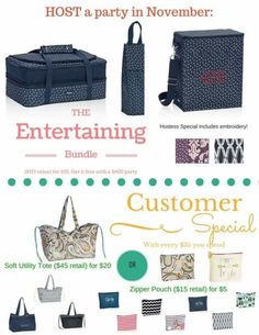Thirty-One Gifts November 2015 Hostess and Customer Specials