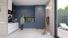 Salón, comedor y cocina integrados en un espacio de doble altura