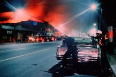 PH - Lawrence Schiller - The National Guard advances during the Los Angeles riots. All photographs courtesy of Fahey Klein in Los Angeles, CA) Watts Los Angeles, Color Photography, Street Photography, Portrait Photography, Watts Riots, Stanford Prison Experiment, No Mans Land, Photo Vintage, Vintage Photos