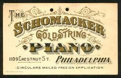schomacker gold string piano