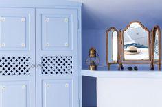 | WINDMILL VILLAS | Luxury Boutique Villas and Suites in Santorini Windmill, Santorini, My Dream Home, Villas, Sweet Home, Boutique, Luxury, Blue, Furniture