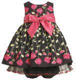 Bonnie Baby Baby-Girls Newborn Flower Print Dress