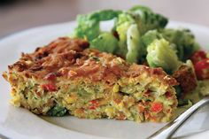 Zucchini Slice: Try it, I'm sure it will become a family favourite. For a vegetarian slice omit the ham & add 1 cup more vegetables. Egg Recipes, Low Carb Recipes, Cooking Recipes, Healthy Recipes, Zucchini Slice, Good Food, Yummy Food, Latest Recipe, Quick Meals