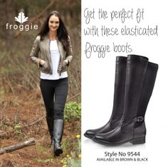Get the perfect fit boot with these elasticised Froggie Boot! Genuine leather, of course and beautifully comfortable!
