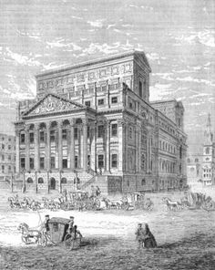 The Mansion House in 1750, the official residence of the Lord Mayor of London. The two roof structures were later removed.
