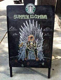 House Starbucks: Summer Is Coming / #gameofthrones