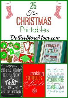 25 Free Christmas Printables - DollarStoreMom.com
