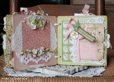 Pieces of Home Designs: once upon a springtime. another GREAT mini album with lots of different techniques for tag placements. really cute!!