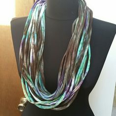 Cotton Infinity Scarf NWOT Great colors make this a nice scarf for spring. Reasonable offers welcome through the offer button.  Bundle 2 or more items and save! Handmade  Accessories Scarves & Wraps