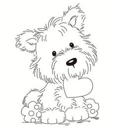 Online Shop 2019 Transparent Clear Silicone Stamp Set for DIY Scrapbooking/Photo Album Card Making Decorative Stamps Cute puppy Cute Coloring Pages, Animal Coloring Pages, Coloring Books, Animal Drawings, Cute Drawings, Scrapbooking Photo, Digi Stamps, Colorful Pictures, Doodle Art
