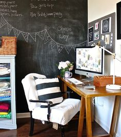 Upcycle and makeover flea market-found items with these DIY office decor ideas, including lighting, a desk, chalkboards, storage and more. Our budget-friendly ideas are perfect for adding a unique vintage and industrial style to your home.