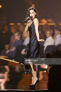 Singer Lena Meyer-Landrut performs at the Echo Award 2016 show on April 07, 2016 in Berlin, Germany.