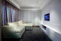 modern media room by Elad Gonen & Zeev Beech