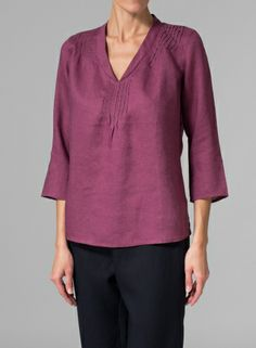 Captivate and turn your style up a few notches with this soft, elegant and lovely relaxed blouse.