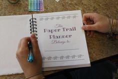 My Drifting Desk | Paper Trail Planners - We love our customizable planners from Paper Trail Planners! #MYpapertrailplanner
