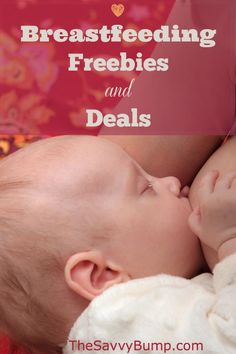 If you're breastfeeding, make sure and check out these great freebies and deals for nursing moms!