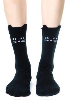 black #LazyOaf #Kitty #Socks