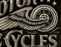 Motorcycle inspired vintage graphics