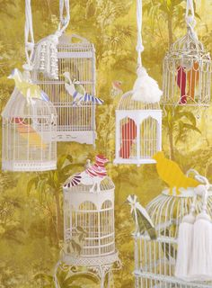 A pastiche of bird cages