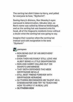 I don't really like the idea of Harry in Slytherin normally. It just doesn't seem to fit in my mind, but this is pretty good! I love my house, but it feels like Slytherin doesn't really fit for Harry Harry Potter Marauders, Harry Potter Jokes, Harry Potter Fandom, Harry Potter World, Harry Potter Fan Theories, Hogwarts, Slytherin Pride, Ravenclaw, Drarry