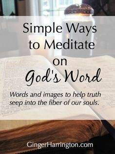 Words and images to simplify meditating on the Bible.