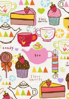 sweets, candy, www.emilymuschinske.com Cake, tea, coffee Emily Muschinske