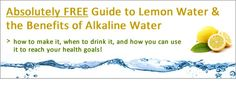 How to make alkaline water - Note: I am not saying that lemons are alkaline, I am saying that lemons are alkalising!  See the distinction here? And by the way, this applies to all foods, not just lemons & limes. The most important thing to note is not what the pH of the food is in it's natural state – rather the EFFECT THE FOOD HAS ON THE BODY.  Because of its very low sugar content and high alkaline mineral content, lemons actually have an alkalising effect on the body.