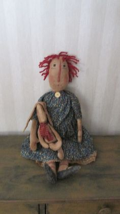 Primitive Raggedy with Bunny