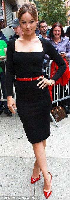 Olivia Wilde transforms from casual to classy with sexy low-cut dress   Mail Online