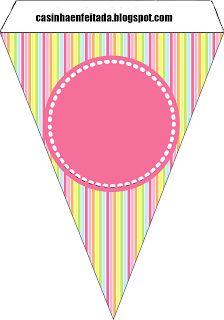 Kit Festa Patati Patata Para Menina Grátis Free Printable Banner, Free Banner, Diy Banner, Birthday Flags, Diy Birthday, Flag Template, Bee Pictures, Eid Stickers, Blank Banner