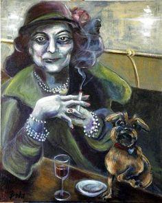"Saatchi Art Artist Clara de Bobes; Painting, ""Abandon all hope"" #art Hope Painting, Bobe, Abandoned, Saatchi Art, Whimsical, Original Paintings, Abstract, Fictional Characters, Hope Art"