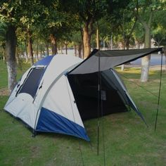 Outdoor waterproof tent c&ing for 3 4 persons/family c&ing tent-inTents from Sports : cabelas bunkhouse tent - memphite.com