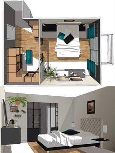 Suite Parentale Dans Moins De 15m2 Projet Pinterest Bedroom