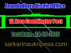 Anandadhara District Office Recruitment 2015