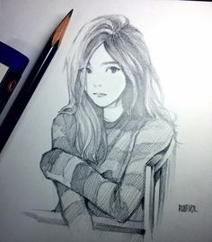 "Fan art of Taeyeon (태연) of Girls' Generation (소녀시대/Sonyeo Sidae) from her music video, ""11:11""."